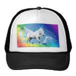 Arco iris del unicornio gorros bordados