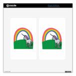 Arco iris del unicornio kindle fire pegatina skin
