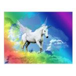 Arco iris del unicornio postales