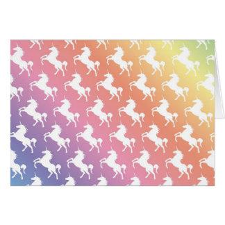 Arco iris del unicornio tarjeta de felicitación