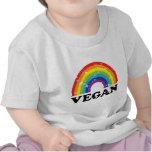 Arco iris del vegano camisetas