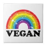 Arco iris del vegano tejas  cerámicas