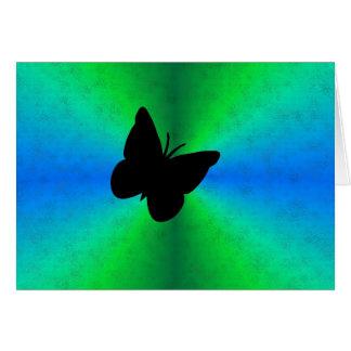 Arco iris del verde azul en la óptica de cuero de  felicitaciones