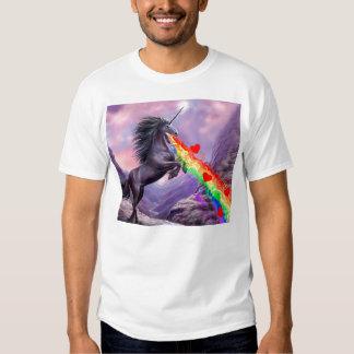 ¡ARCO IRIS del vómito del amor del unicornio! Playera