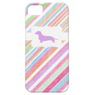 Arco iris descolorado w/Dachshund iPhone 5 Case-Mate Protectores