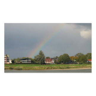 Arco iris después de la tarjeta de la foto del pue tarjeta de visita
