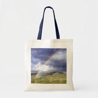 Arco iris dinámico bolsa tela barata