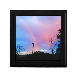 arco iris doble caja de recuerdo