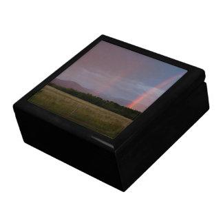 Arco iris doble cajas de recuerdo