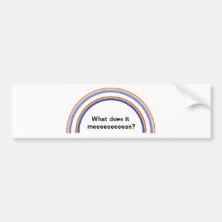 Arco iris doble etiqueta de parachoque
