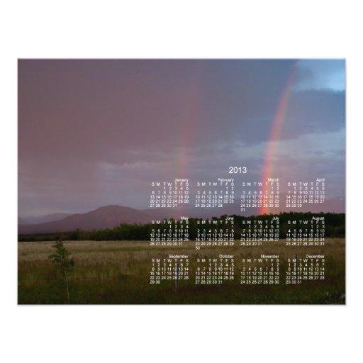 Arco iris doble; Calendario 2013 Fotografías