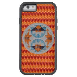 Arco iris doble con los galones anaranjados funda de iPhone 6 tough xtreme