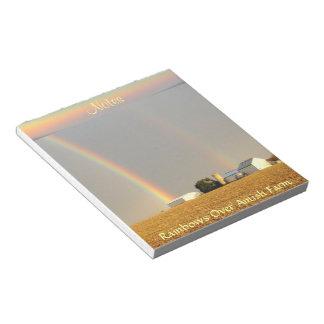 ¡Arco iris doble de Amish!  Libreta Libreta Para Notas