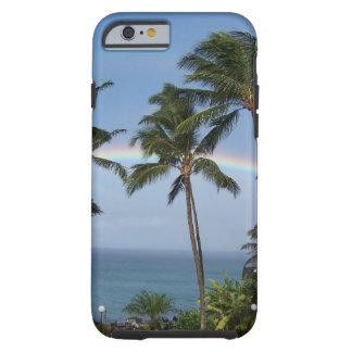 Arco iris doble de Maui Funda De iPhone 6 Tough