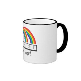 ¡Arco iris doble, hasta el final! (luz) Taza De Café