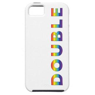 Arco iris doble iphone5 funda para iPhone 5 tough