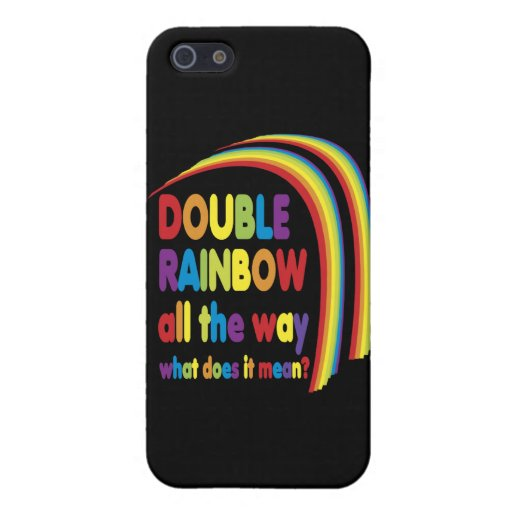 Arco iris doble iPhone 5 fundas