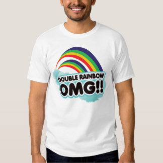 ¡arco iris doble OMG! Remera