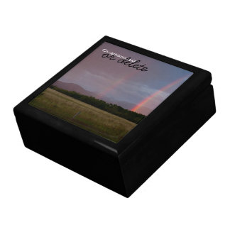 Arco iris doble Personalizable Cajas De Recuerdo
