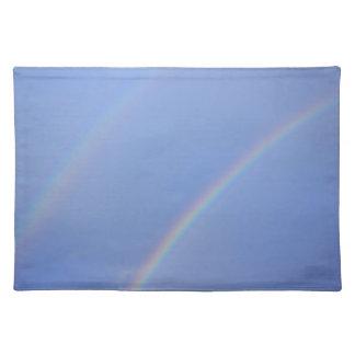 Arco iris doble Placemat Manteles