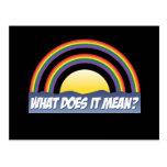 ¿Arco iris doble qué él significa? Postal