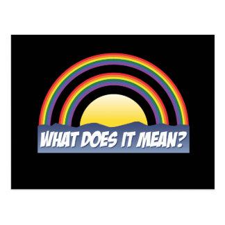 ¿Arco iris doble qué él significa? Postales