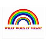 Arco iris doble. ¿Qué significa? Postal