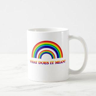 Arco iris doble. ¿Qué significa? Taza De Café