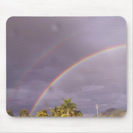 Arco iris doble Queensland Australia Alfombrilla De Ratón