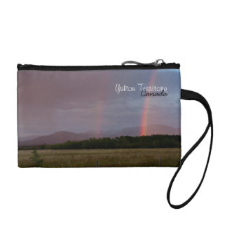 Arco iris doble; Recuerdo del territorio del Yukón