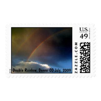 Arco iris doble sobre Denver - sellos