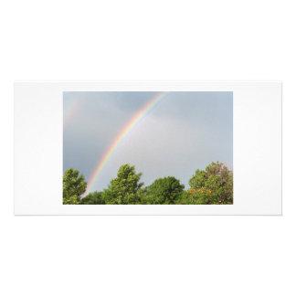 Arco iris doble tarjetas personales