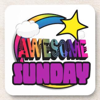 Arco iris domingo impresionante de la estrella posavaso
