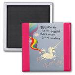 Arco iris el Farting del unicornio Imán De Nevera