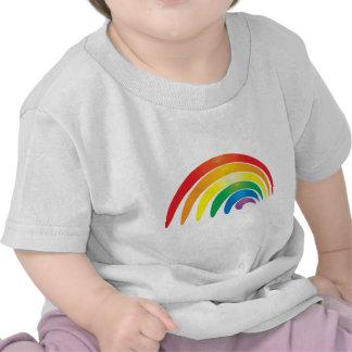 Arco iris elegante camisetas