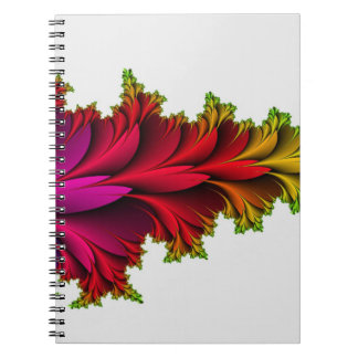 Arco iris emplumado de fractales cuaderno