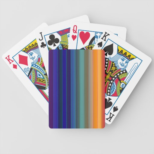 Arco iris en colores oscuros baraja de cartas