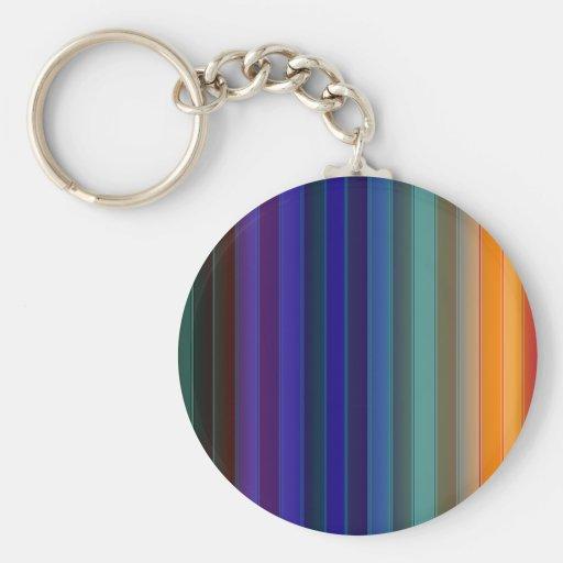 Arco iris en colores oscuros llavero redondo tipo pin