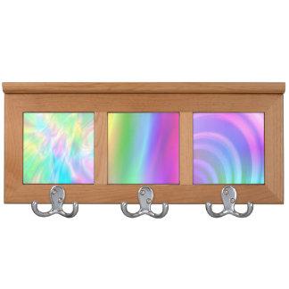 Arco iris en colores pastel abstracto Coatrack