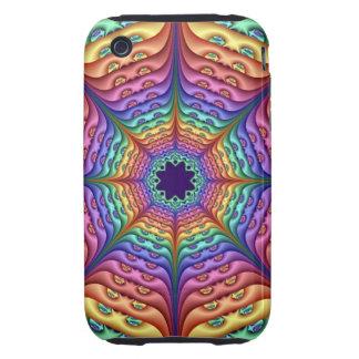 Arco iris en colores pastel duro del caso iPhone 3 tough funda