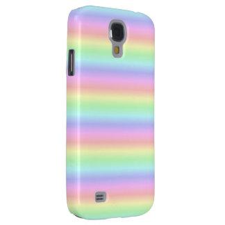 Arco iris en colores pastel funda para galaxy s4