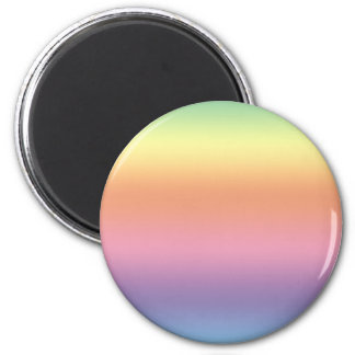 Arco iris en colores pastel imán redondo 5 cm
