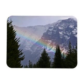 Arco iris en el Parque Nacional Glacier - montañas Imán Flexible