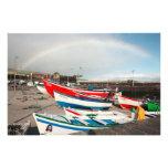 Arco iris en el puerto fotografía