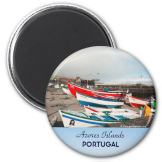 Arco iris en el puerto imán redondo 5 cm