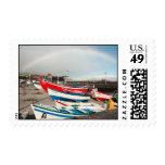 Arco iris en el puerto sellos