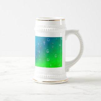 Arco iris en elefante skin óptica de cuero tazas de café