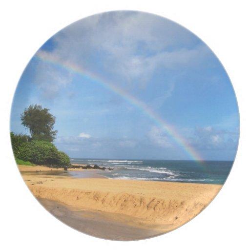 Arco iris en Kauai Platos De Comidas
