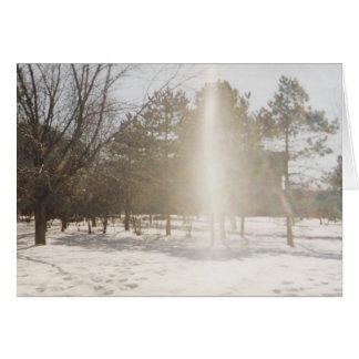 Arco iris en la nieve (tarjeta de felicitación en