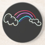 Arco iris en neón posavasos personalizados